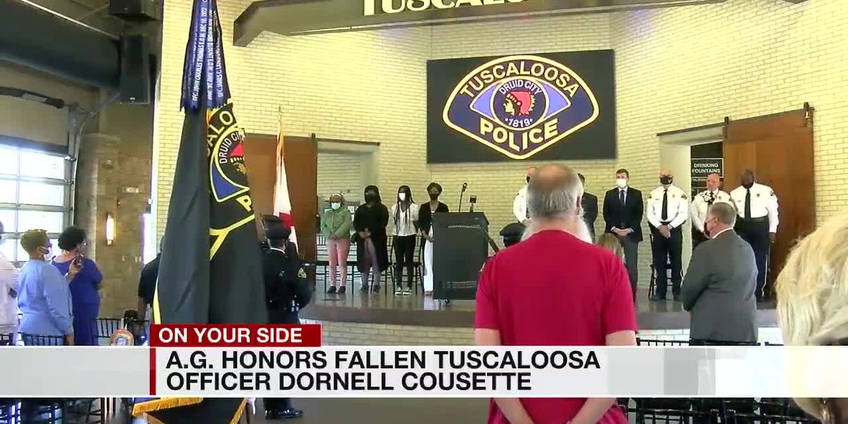 Alabama Attorney General visits Tuscaloosa to honor fallen officer's memory