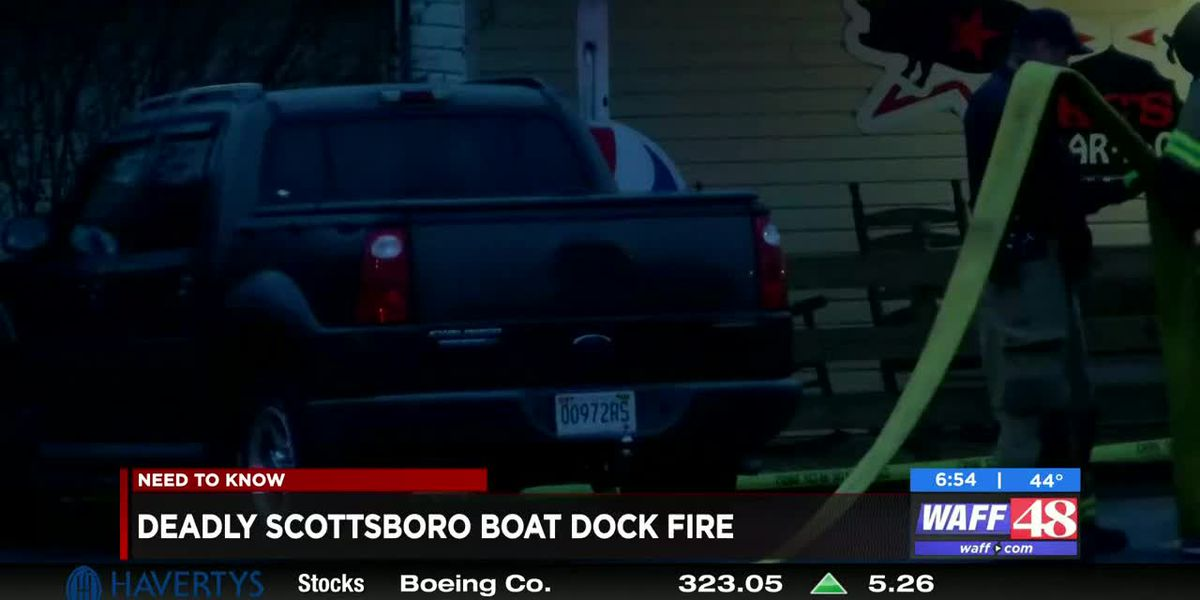 Jackson County boat fire