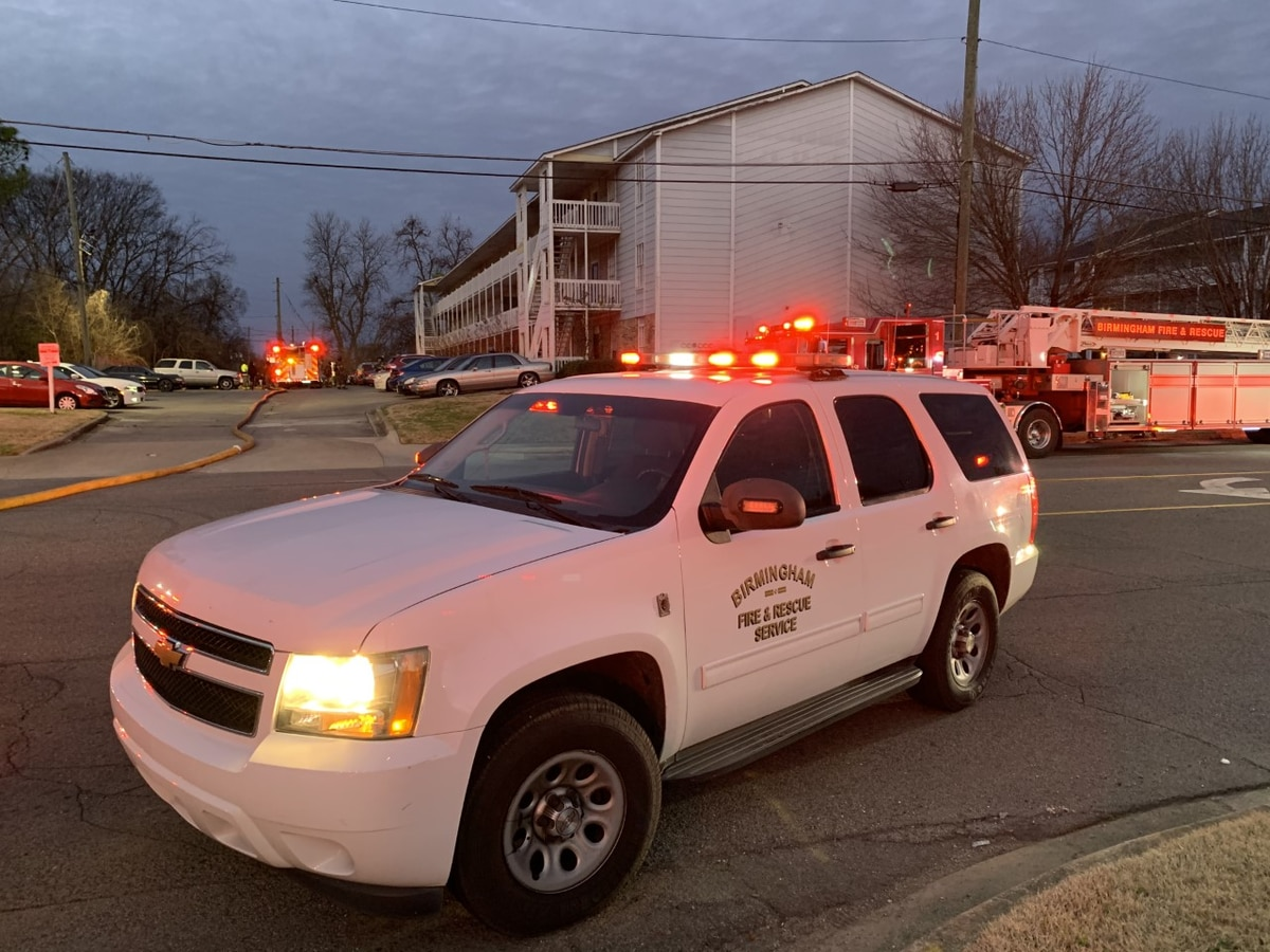 Ensley apartments catch fire