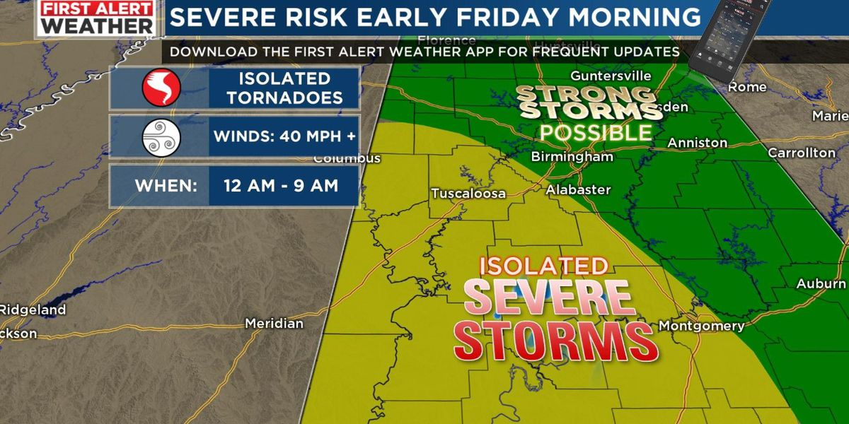 FIRST ALERT: Heavy rain and a few severe storms possible