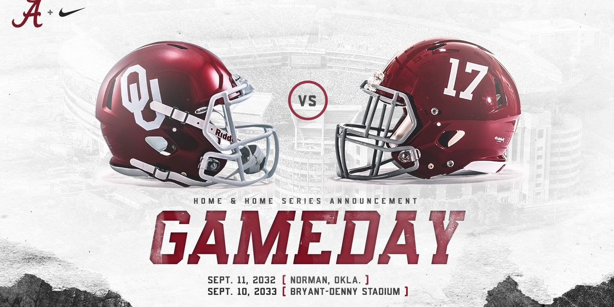 Alabama, Oklahoma announce home-and-home football series