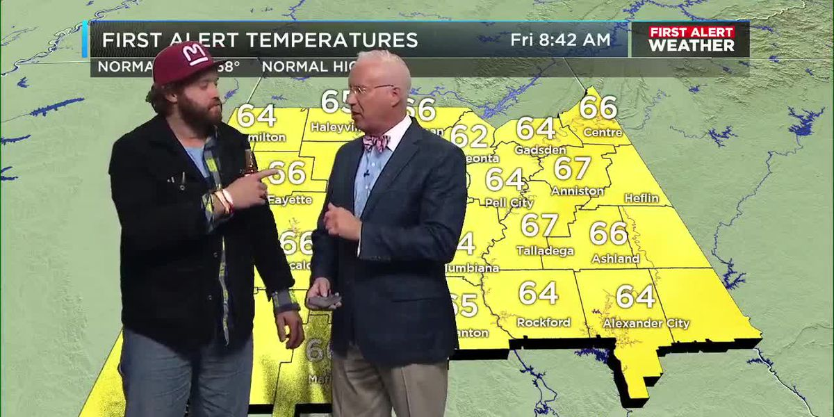 T.J. Miller crashes Mickey's weather segment