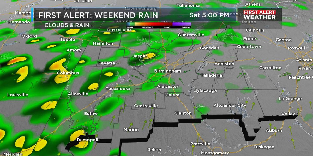 FIRST ALERT: Get ready for some weekend rain