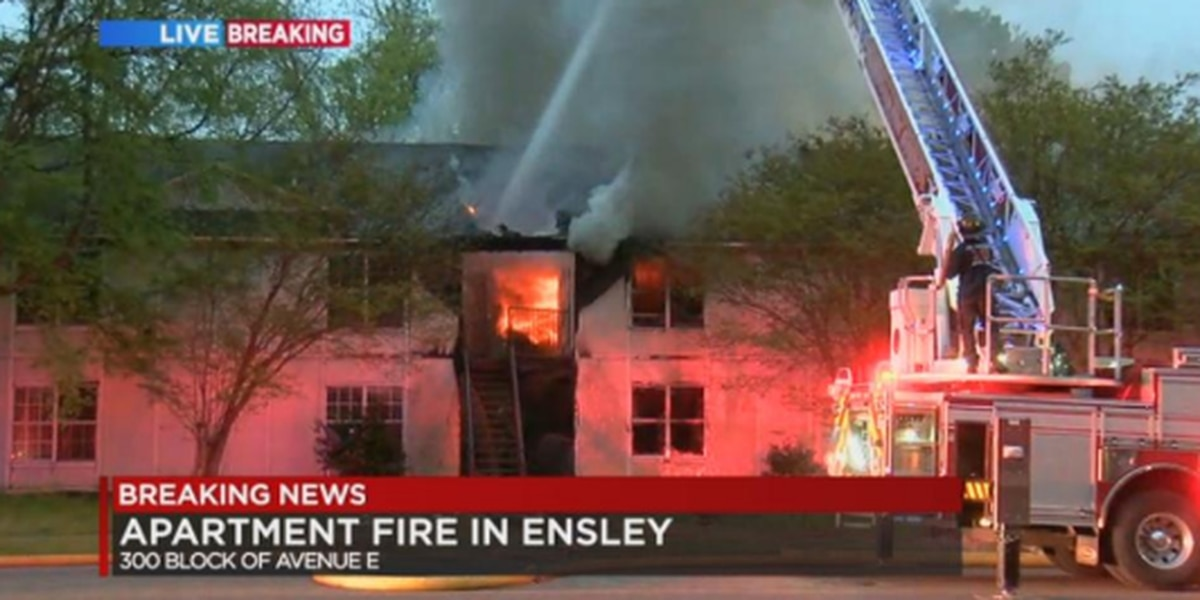 Birmingham firefighters on scene of fire at vacant apartment complex in Ensley