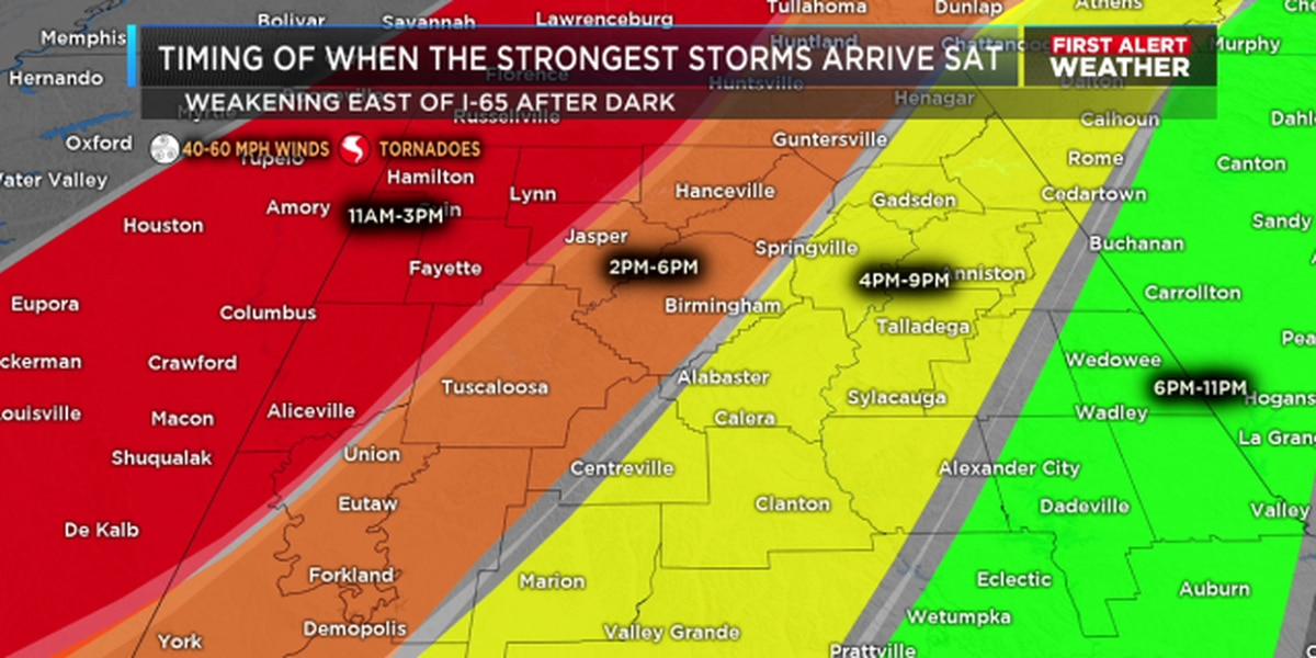 FIRST ALERT for flooding and severe storms