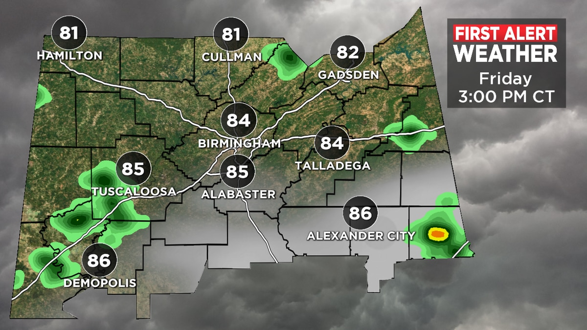 FIRST ALERT: A few storms are possible Friday