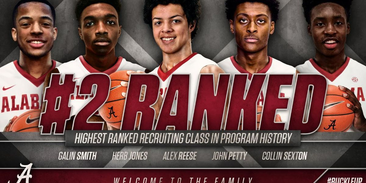 Alabama men's basketball signs No. 2-ranked class in the country