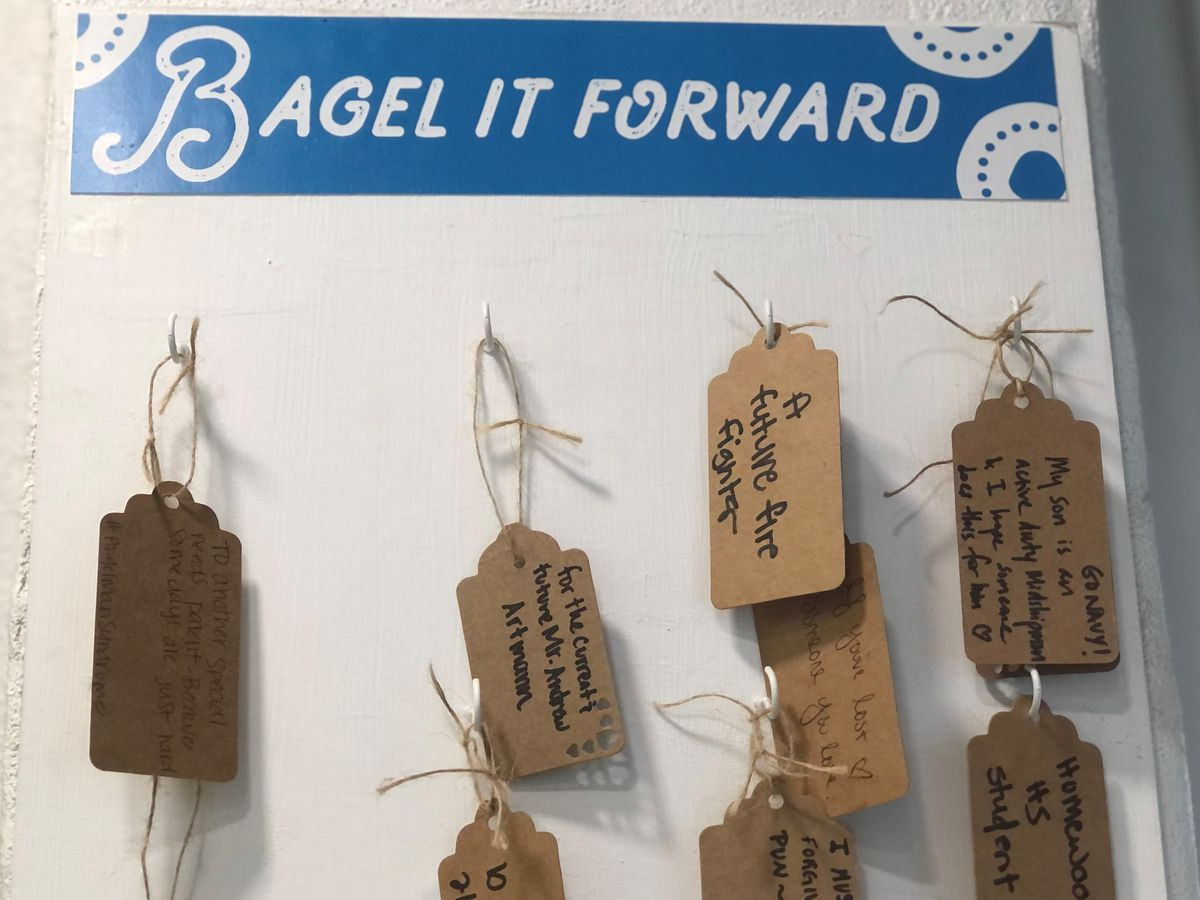 Paying it forward, with bagels