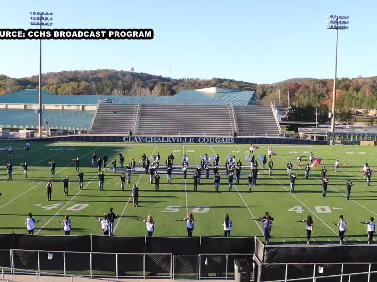 The Clay-Chalkville HS band marches to a tribute to Beyoncé