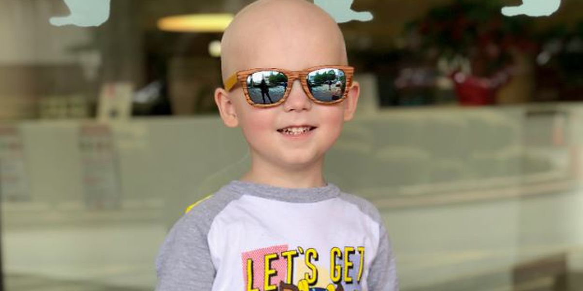 Community welcomes home 3-year-old cancer survivor