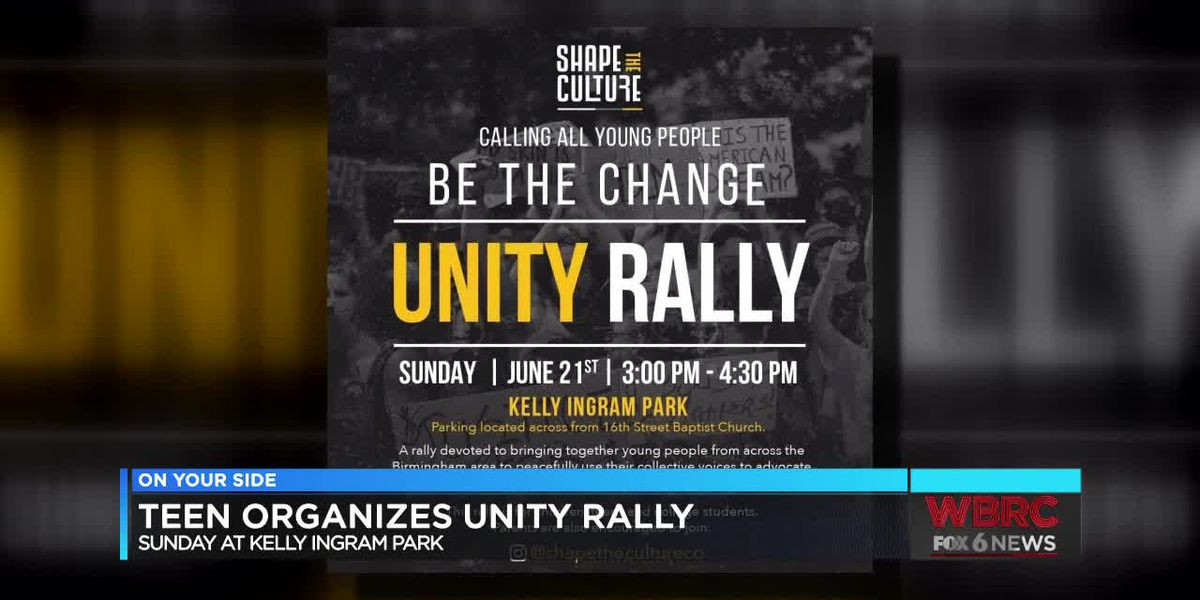 Bham teen organizes unity rally for young people