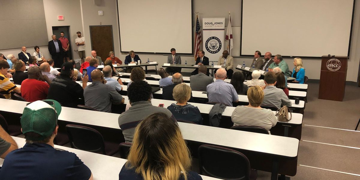 Senator Doug Jones holds forum in Gadsden on Goodyear's future