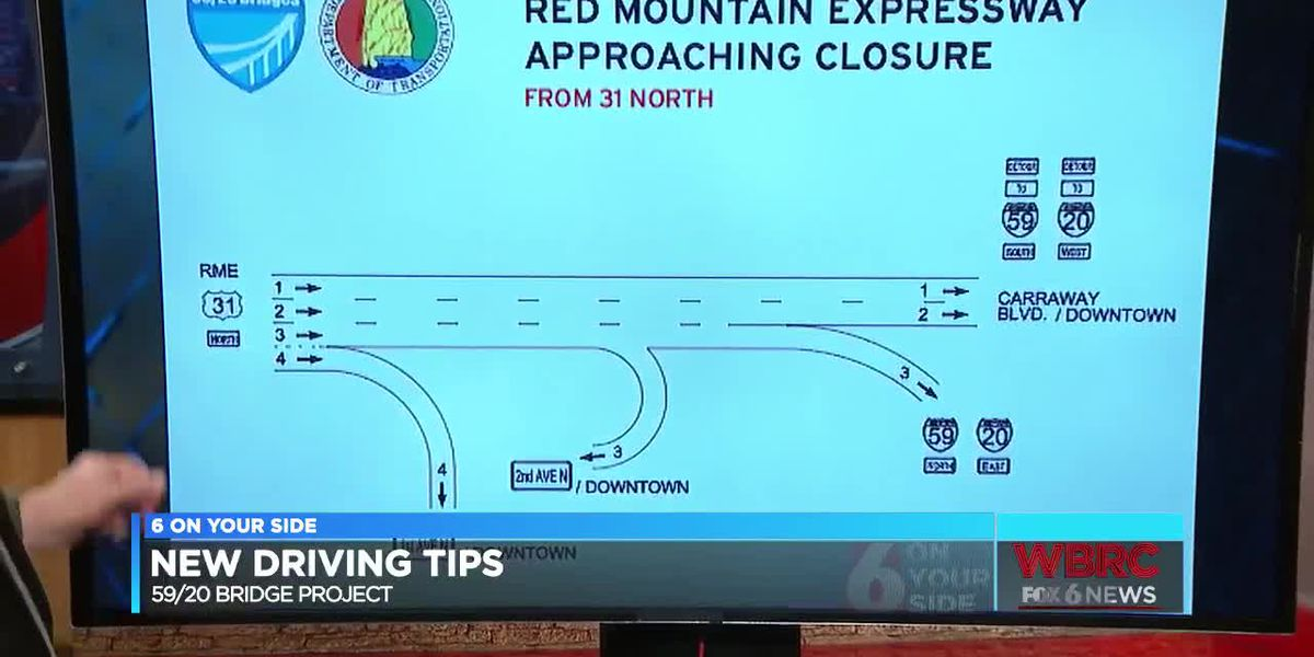 New driving tips for 59/20 bridge project