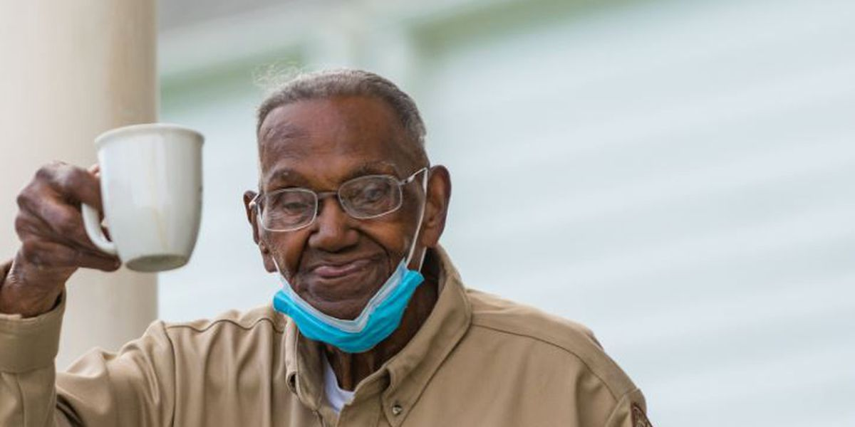 IMAGES: Oldest living U.S. Veteran celebrates his 111th birthday in New Orleans