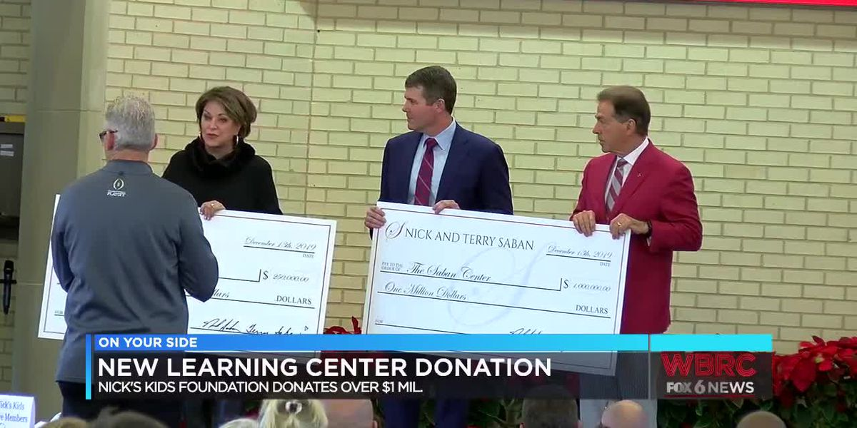 New learning center donation from Nick's Kids Foundation, Sabans