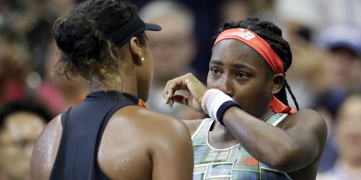 Tears flow, cheers follow as Naomi Osaka shows she's a class act