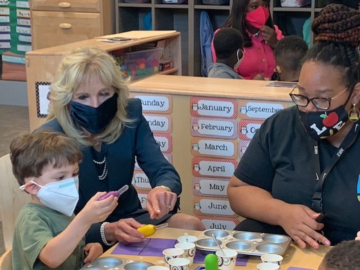 First Lady Jill Biden visits Birmingham, tours children centers