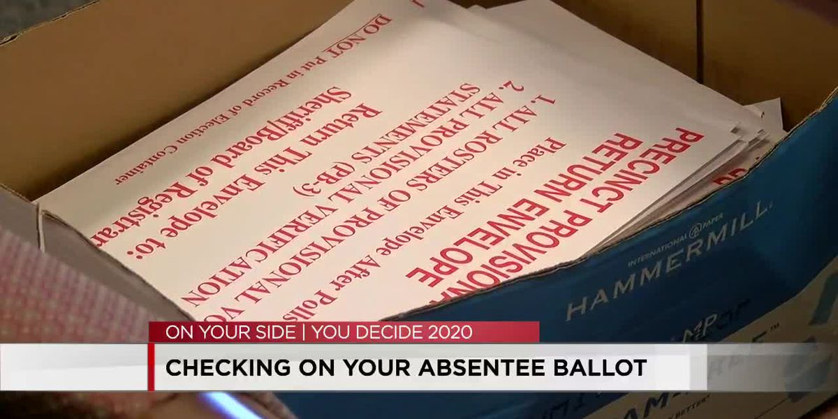 Here's how to check the status of your absentee ballot