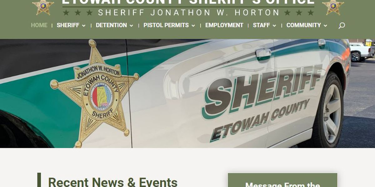Etowah County Sheriff's website back up after former sheriff took it offline
