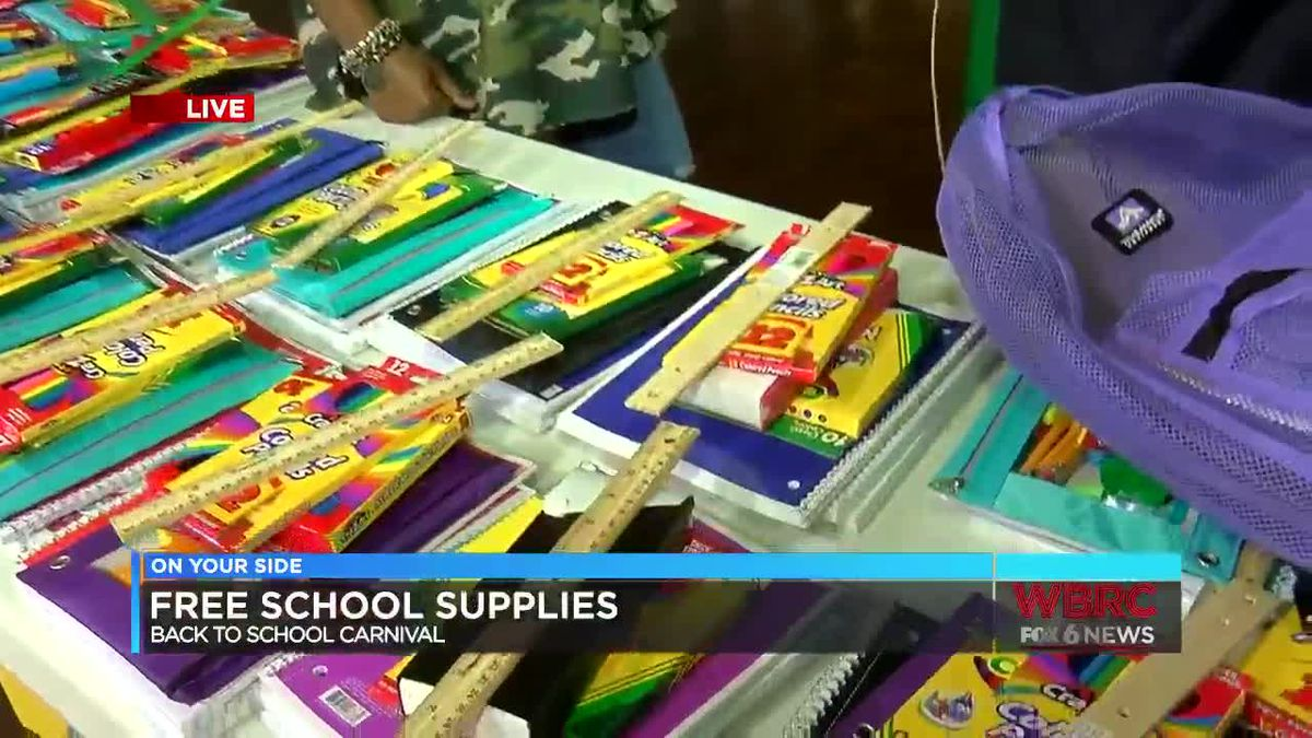 Free school supplies at back-to-school carnival