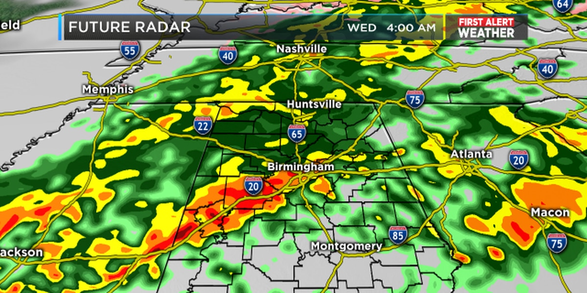 FIRST ALERT: Tracking rain and storms Tuesday night