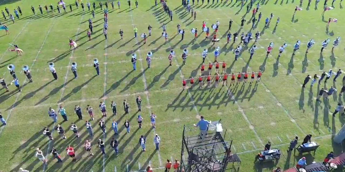Bigger the better when it comes to the Hoover H.S. Marching Band