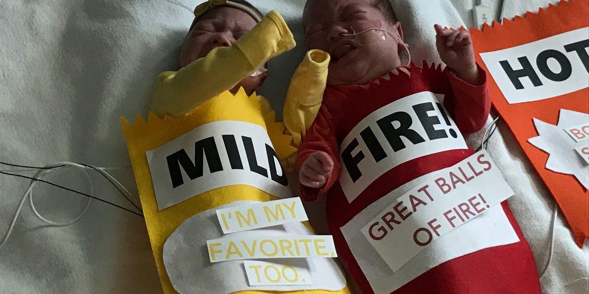 Hospital dresses up babies for Halloween