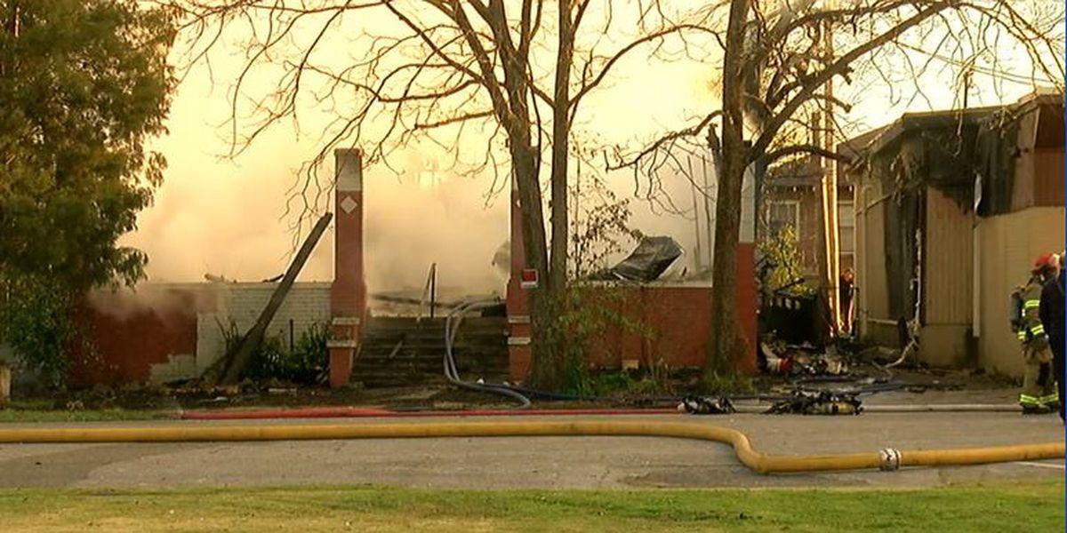 Bessemer firefighters battling house fire