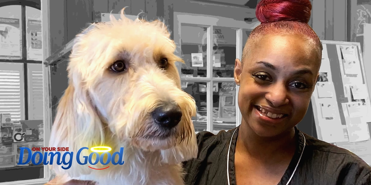 "Sharea Dugger ""Doing Good"" as a dog groomer"