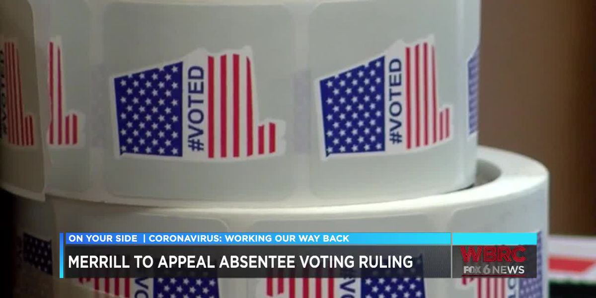 AL Sec. of State plans to appeal ruling that would loosen absentee ballot restrictions