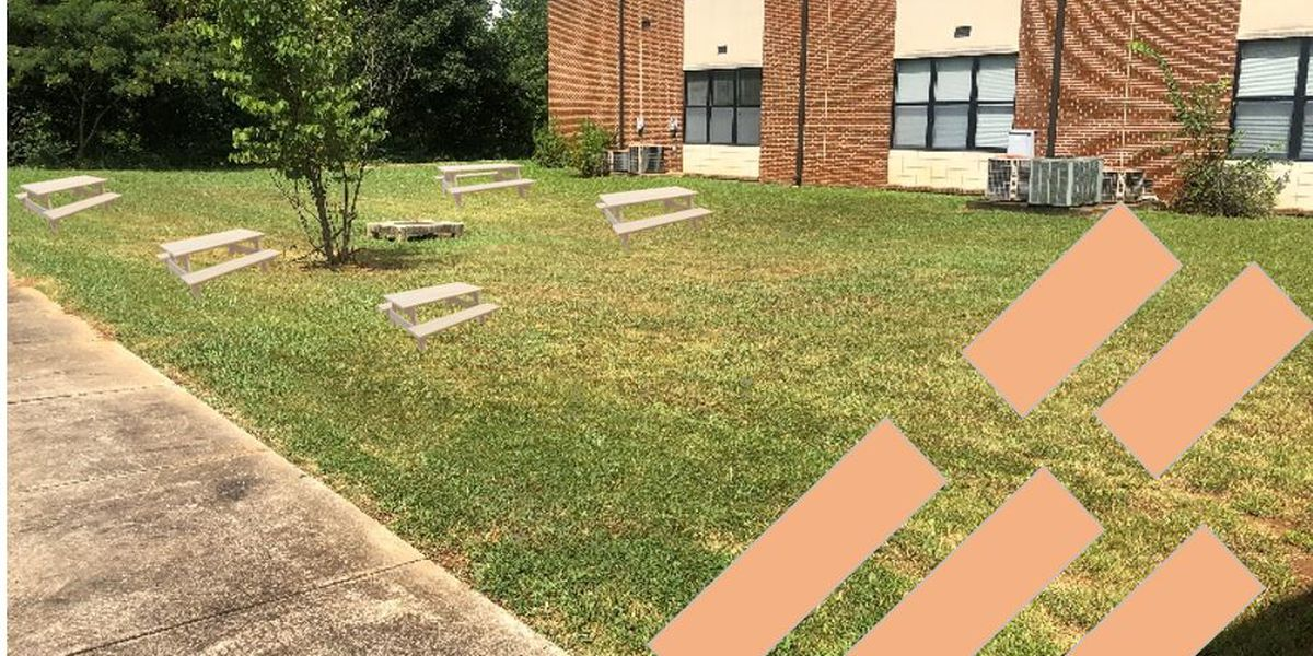 Moody High School staff working to create outdoor learning space