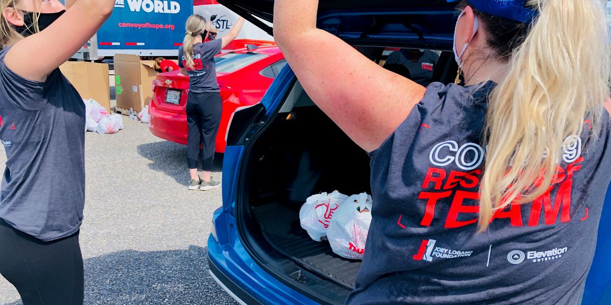 Convoy of Hope makes a stop at Talladega Superspeedway