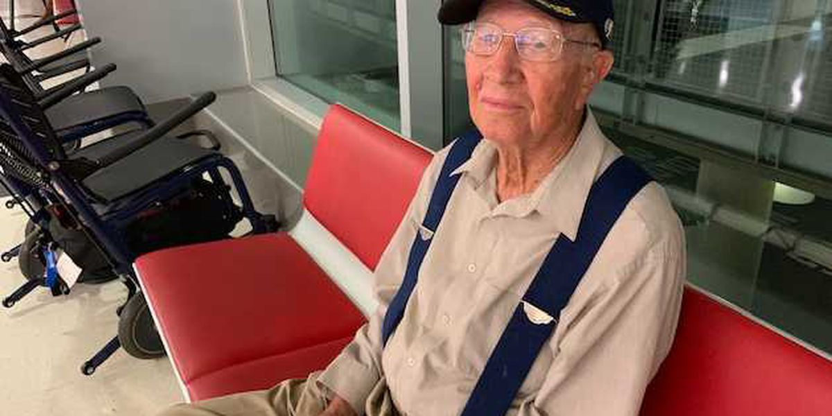 WWII veteran departs from B'ham airport for tour to commemorate 75th anniversary of D-Day