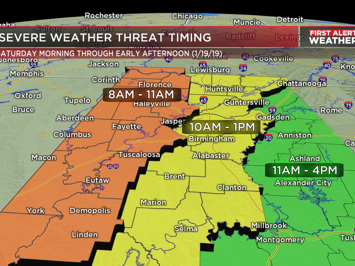 FIRST ALERT: Strong to severe storms possible Saturday