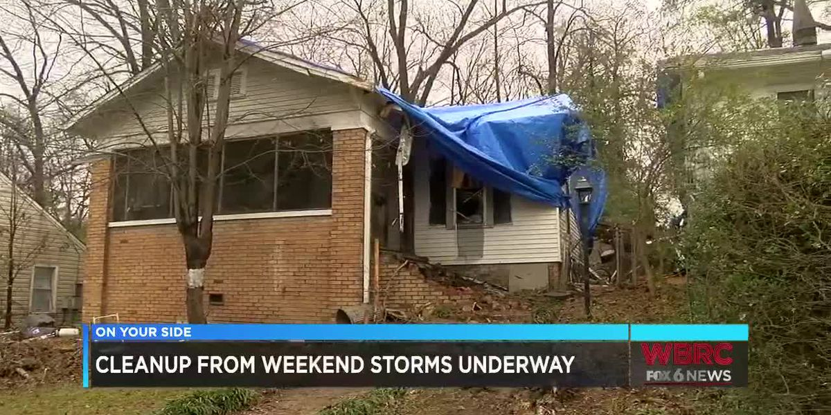 Cleanup from weekend storms is underway