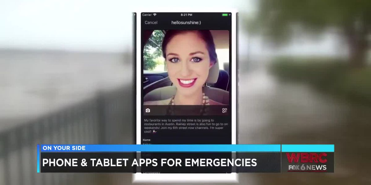 Phone and tablet apps for emergencies