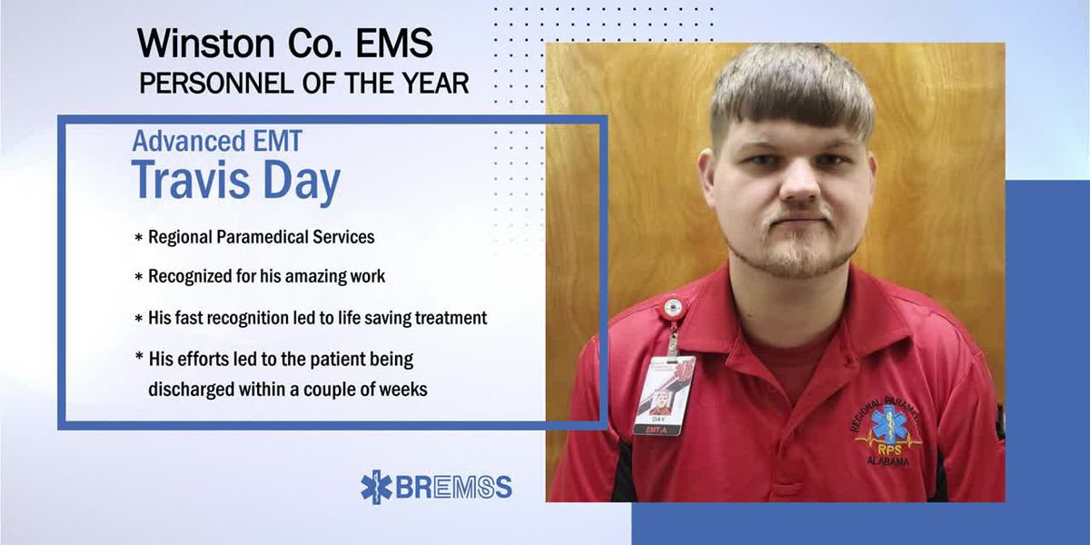 BREMSS Emergency Medical Personnel of the Year: Travis Day