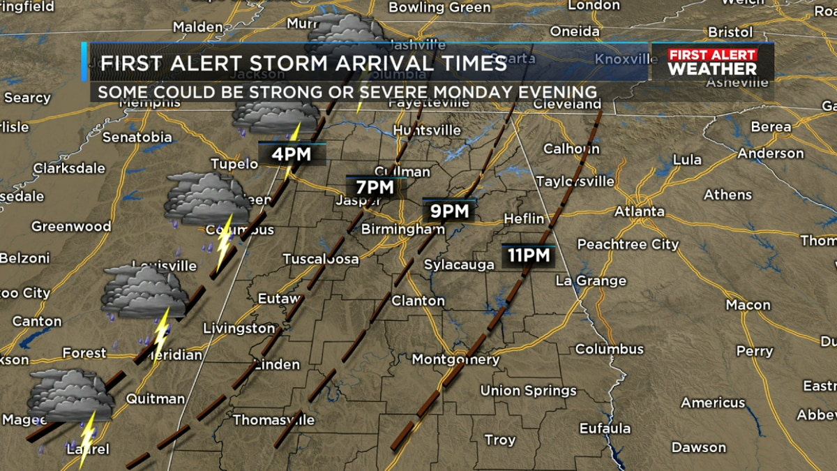 Preparing for the severe weather expected Monday