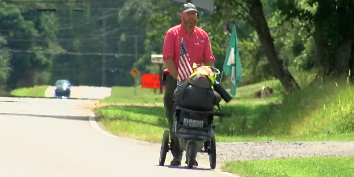 U.S. Army veteran is walking cross country for suicide awareness