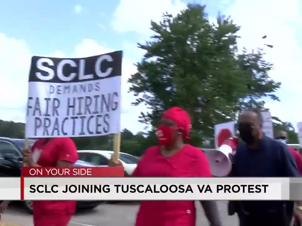 SCLC protests alongside workers at Tuscaloosa VA Medical Center