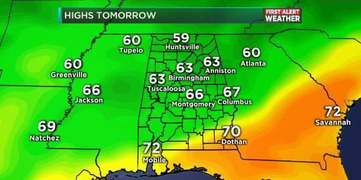 FIRST ALERT Update: Patchy frost by Saturday
