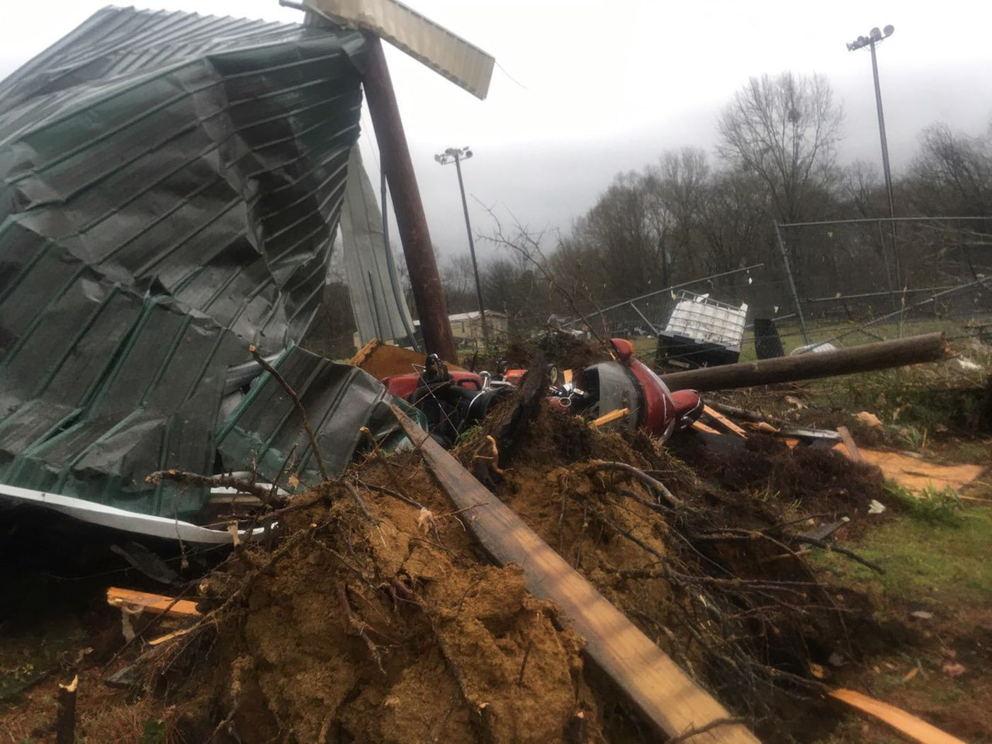 Severe storms Monday morning left widespread damage in Hale County.