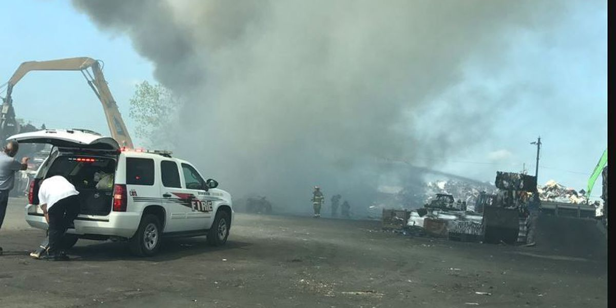 Birmingham firefighters respond to fire at scrap yard