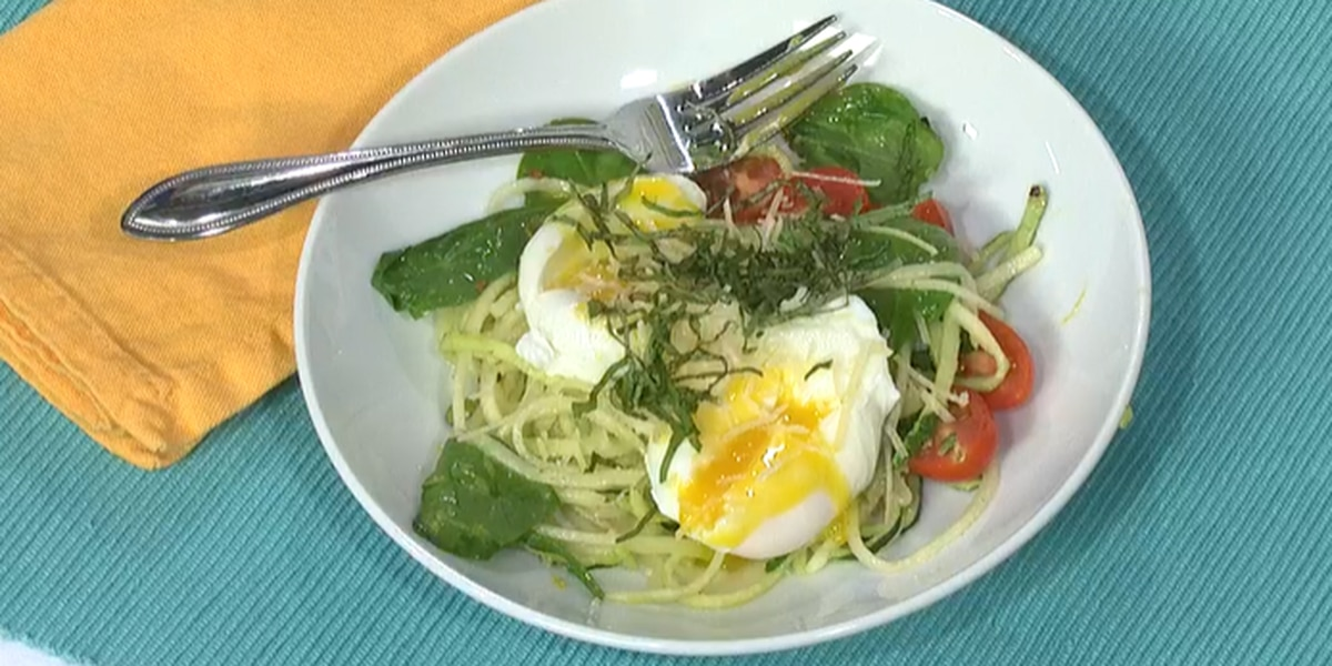 Jessica Ivey: Zucchini Noodles with Poached Eggs