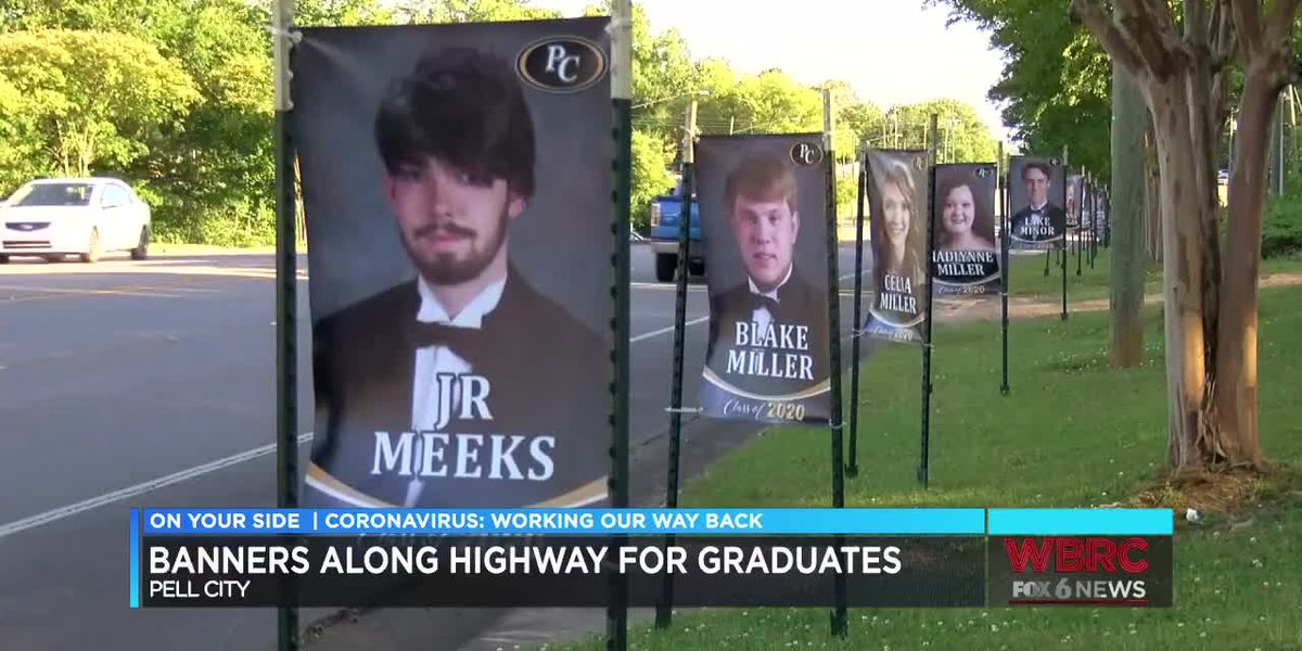 Banners along Pell City highway for 2020 grads