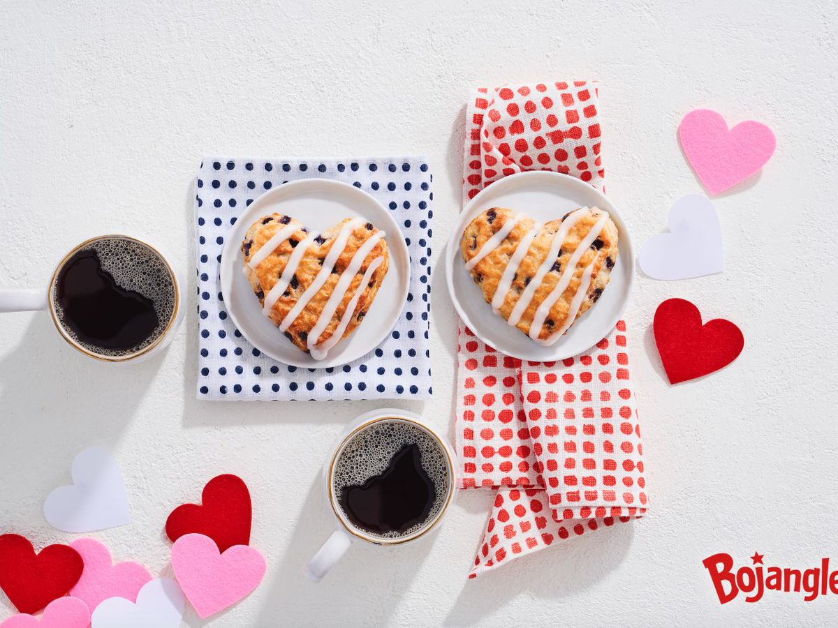 Bojangles serves up Valentine's treat with heart-shaped Bo-Berry biscuits
