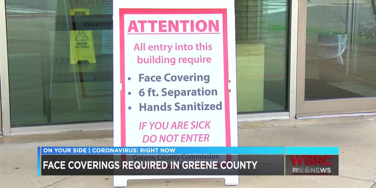 Face coverings required in Greene County