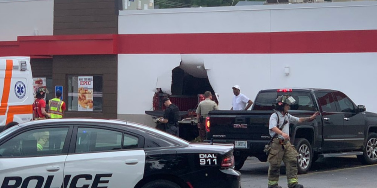 Truck crashes into Arby's in Talladega