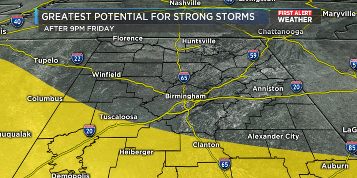 FIRST ALERT: Another round of storms expected Friday night