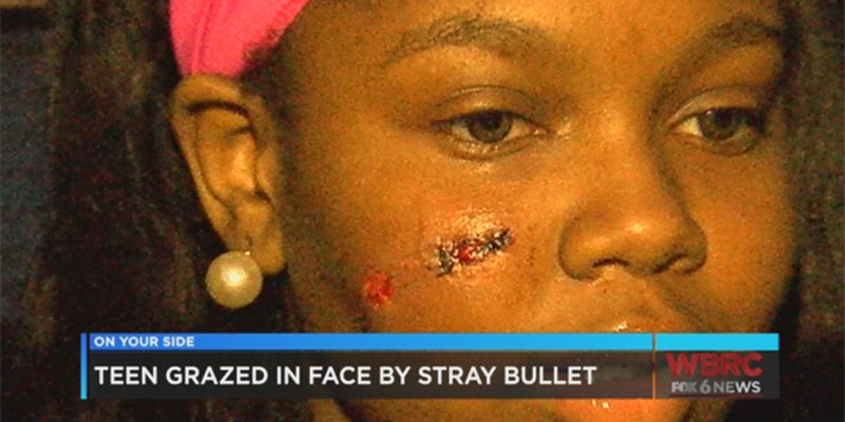 16-year-old girl grazed by stray bullet is back home recovering